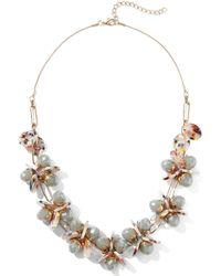New York & Company - Goldtone Beaded Necklace - Lyst