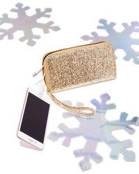New York & Company - Glitter Finish Charging Wallet - Lyst