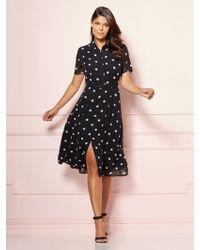 285ded99e4a1 New York   Company - Eva Mendes Collection - Dot Print Pia Shirtdress - Lyst