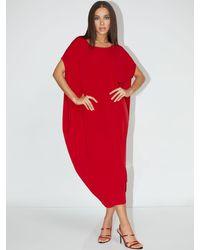 New York & Company Dolman Knit Maxi Dress - Ny&c Style System - Red