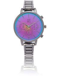 New York & Company Chronograph Link Watch - Multicolor