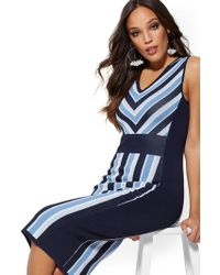 New York & Company - Stripe Sweater Sheath Dress - Lyst