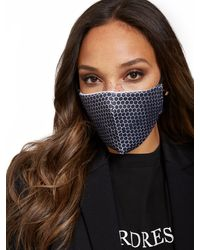 New York & Company Honeycomb Face Mask - Black