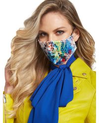 New York & Company Multi Color Face Mask - Blue
