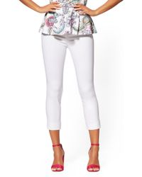 New York & Company - Whitney Crop High-waist Pull-on Pant - White - Lyst
