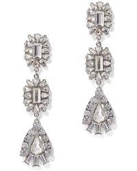 New York & Company - Glittering Silvertone Statement Drop Earring - Lyst
