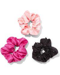 New York & Company 3-piece Scrunchie Set - Pink
