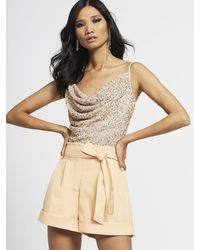 New York & Company Sequin Hand Beaded Cami - Gabrielle Union Limited Edition Red Carpet Collection - Natural