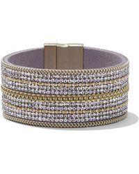 New York & Company - Glittering Goldtone Wrap Bracelet - Lyst