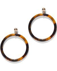 New York & Company - Faux-tortoise Hoop Drop Earring - Lyst