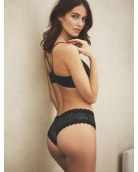 New York & Company Animal Mesh Cheeky - Black