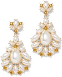 New York & Company - Goldtone Faux-stone Drop Earring - Lyst