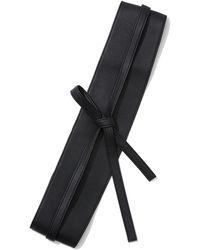 New York & Company Faux-leather Sash Belt - Black