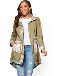 New York & Company - Painted Anorak Jacket - Lyst