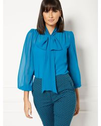 New York & Company - Isabella Bow Blouse - Eva Mendes Collection - Lyst