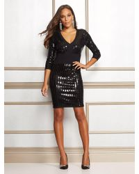 New York & Company - Eva Mendes Collection - Christal Sequin Sweater Dress - Lyst