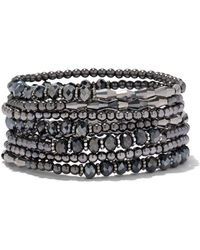 New York & Company - 7-row Beaded Stretch Bracelet - Lyst