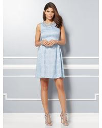 New York & Company - Eva Mendes Collection - Maria Jacquard Dress - Lyst