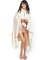 New York & Company Nava Ultra Plush Snuggle Hoodie Robe - Ny&c X Chic Home - Natural
