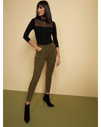 New York & Company High-waisted Super-skinny Cargo Jeans - Olive - Green