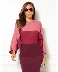 New York & Company - Eva Mendes Collection - Kacey Colorblock Sweater - Lyst