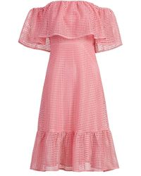 New York & Company Off-the-shoulder Perforated Dress - Pink