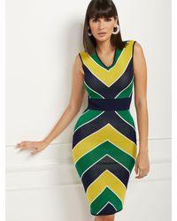New York & Company - Chevron Sweater Sheath Dress - Lyst