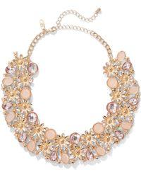 New York & Company - Polished Goldtone Bib Necklace - Lyst