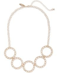 New York & Company - Goldtone Chain-link Statement Necklace - Lyst