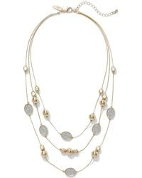 New York & Company - Faux-druzy Illusion Necklace - Lyst