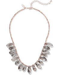 New York & Company - Rose Goldtone Beaded Statement Necklace - Lyst