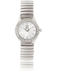 New York & Company Silvertone Pave Watch - Metallic