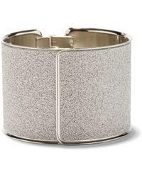 5b36bdc1a75 Lyst - River Island Gold Tone Stacked Glitter Cuff in Metallic