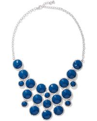 New York & Company Faux Stone Statement Necklace - Blue