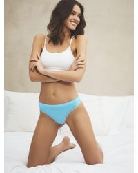 New York & Company Uncommon Seamless Geo Thong - Blue