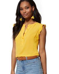 9cba07f16e0 New York   Company - Flutter-sleeve Blouse - Soho Soft Shirt - Lyst