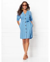d4fa9b02a96 New York   Company - Christie Linen Shirtdress - Eva Mendes Collection -  Lyst