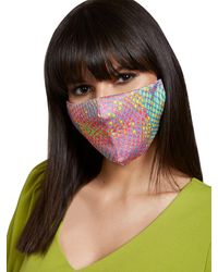 New York & Company Reptilian Multicolor Face Mask