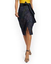 New York & Company Cargo Pencil Skirt - Blue