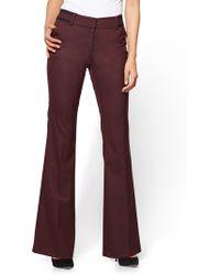 New York & Company - 7th Avenue Pant - Bootcut - Modern - Burgundy - Lyst