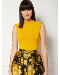 New York & Company Valora Sweater - Eva Mendes Fiesta Collection - Yellow