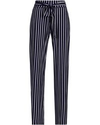 New York & Company Striped Wide-leg Pull-on Pant - Blue