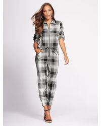 fc6794058ed2 New York   Company - Zip-front Jumpsuit - Gabrielle Union Collection - Lyst
