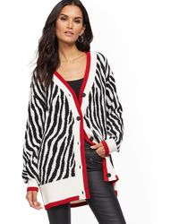 New York & Company - Zebra-print Cardigan - Soho Street - Lyst