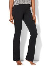 New York & Company Petite Bootcut Yoga Pant - Black