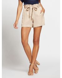 New York & Company - Gabrielle Union Collection - Beige Paperbag-waist Short - Lyst
