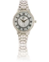 New York & Company Pave Mother-of-pearl Watch - Metallic