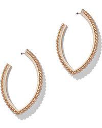 New York & Company - Goldtone Oval Hoop Earring - Lyst
