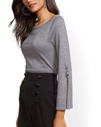 New York & Company - 7th Avenue - Metallic Bateau-neck Sweater - Lyst