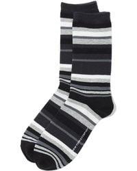 New York & Company - Crew Sock - Multi Stripe - Lyst